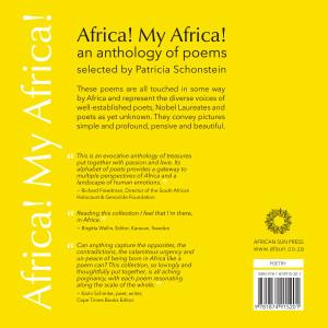 Back cover of the poetry anthology, Africa My Africa