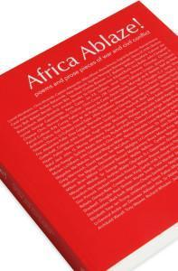 Cover detail of the poetry anthology, Africa Ablaze