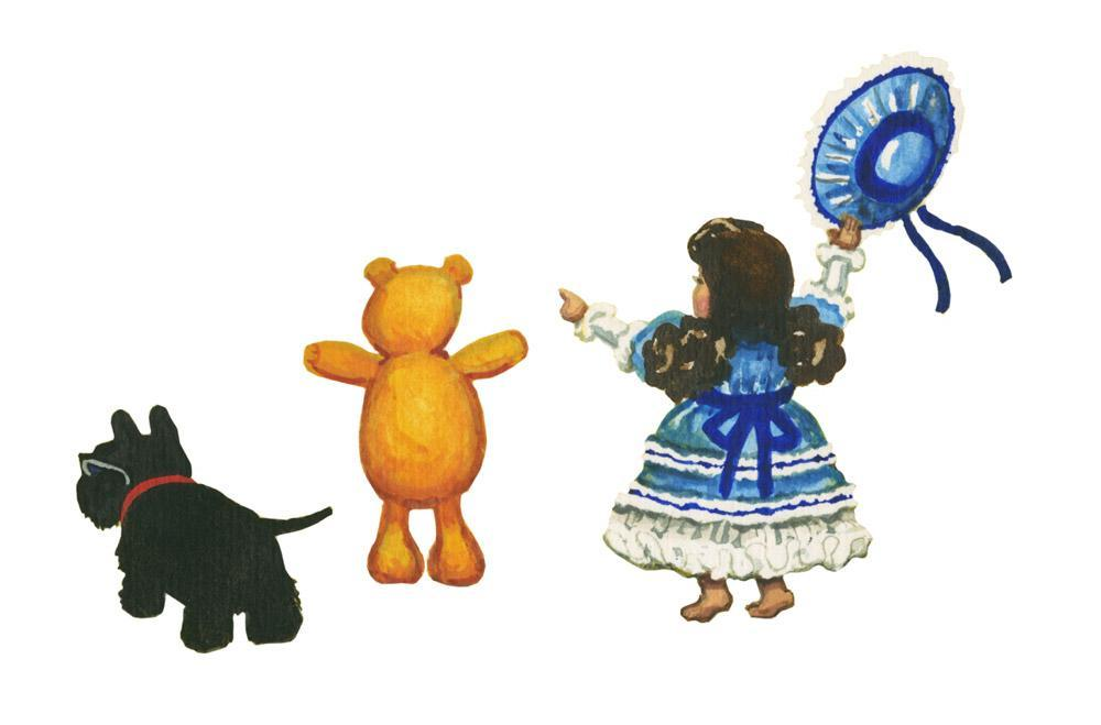 Illustration detail from the childrens book, Maggie, Mango and Scottie