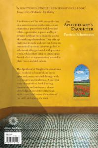 Back cover image of the novel, The Apothecary's Daughter
