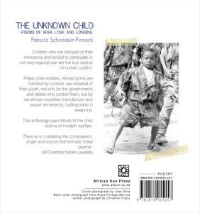 Back cover image of the poetry book, The Unknown Child