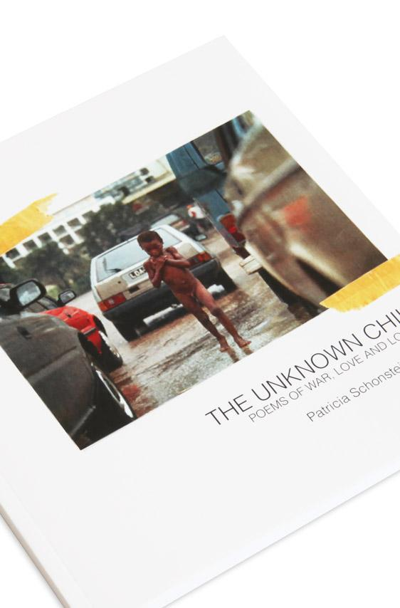 Cover detail of poetry book, The Unknown Child